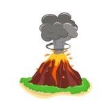 Иллюстрация вектора вулкана установленная Стоковая Фотография