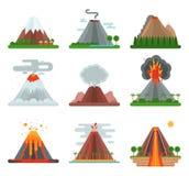 Иллюстрация вектора вулкана бесплатная иллюстрация