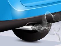 Труба и дым Exaust Стоковая Фотография RF