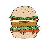 Иллюстрация вектора гамбургера Стоковые Фото