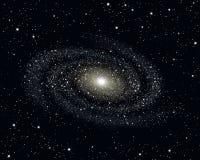Иллюстрация вектора галактики Стоковое Изображение RF