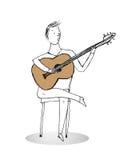 Иллюстрация вектора гитариста Стоковые Изображения RF