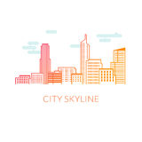 Иллюстрация вектора горизонта города Стоковые Изображения RF