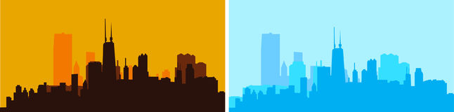 Иллюстрация вектора горизонта города Стоковые Фото