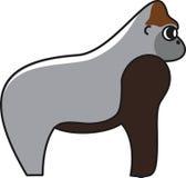 Иллюстрация вектора гориллы Стоковые Фотографии RF