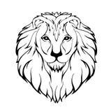 Иллюстрация вектора головы льва Стоковая Фотография RF