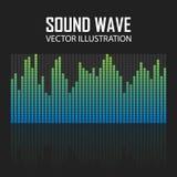 Иллюстрация вектора голубого выравнивателя музыки Стоковые Фотографии RF