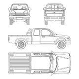 Иллюстрация вектора грузового пикапа автомобиля Стоковое фото RF