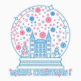 Иллюстрация вектора глобуса снега рождества иллюстрация вектора