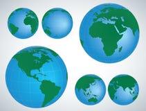 Иллюстрация вектора глобуса 3D Стоковое Фото