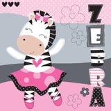 Иллюстрация вектора девушки зебры Стоковое Изображение