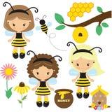Иллюстрация вектора девушки пчелы Стоковое фото RF