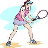 Иллюстрация вектора девушки тенниса Стоковое Изображение RF