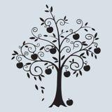 Иллюстрация вектора дерева Яблока курчавая Стоковое фото RF