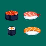 Иллюстрация вектора еды суш Стоковое фото RF