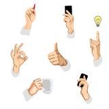 Иллюстрация вектора жестов Стоковая Фотография RF