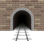 Иллюстрация вектора железнодорожного тоннеля Стоковое Изображение RF