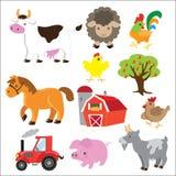 Иллюстрация вектора животноводческих ферм Стоковое Изображение RF