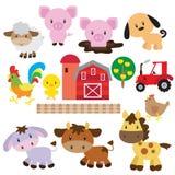 Иллюстрация вектора животноводческих ферм Стоковое Изображение