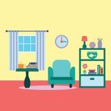 Иллюстрация вектора живущей комнаты Стоковые Изображения RF