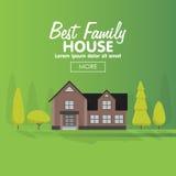 Иллюстрация вектора жилищного строительства семьи Стоковое Изображение