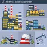 Иллюстрация вектора заводов и фабрик Стоковое Изображение RF