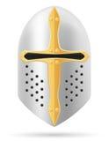 Иллюстрация вектора запаса шлема сражения средневековая Стоковая Фотография RF