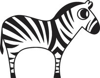 Иллюстрация вектора зебры Стоковая Фотография RF