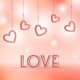 Иллюстрация вектора знака влюбленности с сердцами Стоковая Фотография RF