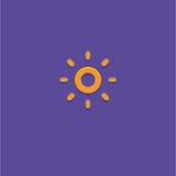 Иллюстрация вектора значка Солнця стоковые фотографии rf