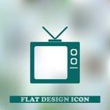 Иллюстрация вектора значка ТВ Стоковые Изображения