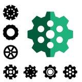 Иллюстрация вектора значка шестерни или Cog Стоковое Фото