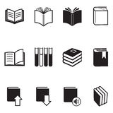 Иллюстрация вектора значков книги иллюстрация вектора