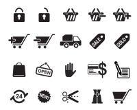 Иллюстрация вектора значков покупок Иллюстрация штока