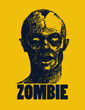 Иллюстрация вектора зомби шаржа Стоковые Фото