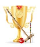 Иллюстрация вектора золотого запаса победителя чашки крокета Стоковая Фотография RF