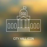 Иллюстрация вектора здание муниципалитета Стоковое фото RF