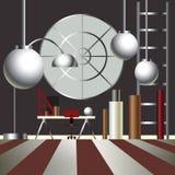 Иллюстрация вектора дизайна интерьера шкафа Стоковые Фото