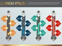 Иллюстрация вектора дизайна картины диаграммы в виде вертикальных полос Infographic тайская декоративная Стоковые Изображения