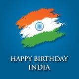 Иллюстрация вектора дизайна поздравительной открытки дня республики Индии 26-ое января Стоковые Фотографии RF