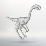 Иллюстрация вектора динозавра модельная Треугольник полигона Структурная решетка полигонов Абстрактная творческая предпосылка кон Стоковые Изображения