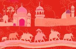 Индийский декор с слонами Стоковые Изображения