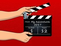 Иллюстрация вектора искусства шипучки clapperboard кино Стоковая Фотография