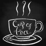 Иллюстрация вектора литерности чашки чаю Стоковая Фотография