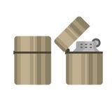 Иллюстрация вектора лихтера сигареты Стоковые Фотографии RF