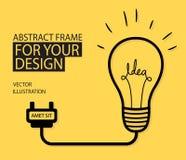 Иллюстрация вектора идеи электрической лампочки Стоковое Изображение