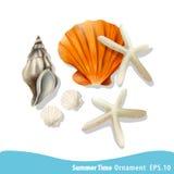 Иллюстрация вектора иллюстрации летних отпусков Стоковое Изображение RF