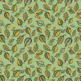 Иллюстрация вектора картины зеленого леса безшовная Стоковые Фото