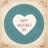 Иллюстрация вектора карточки желания дня валентинки Стоковое Изображение RF
