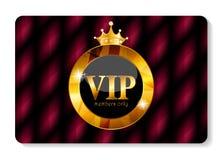 Иллюстрация вектора карточки членов VIP Стоковая Фотография